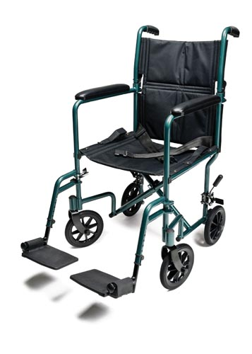 Lightweight Aluminum Transport Wheelchair
