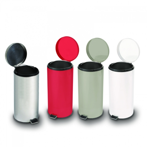 Round Steel Trash Can / Waste Recepticle