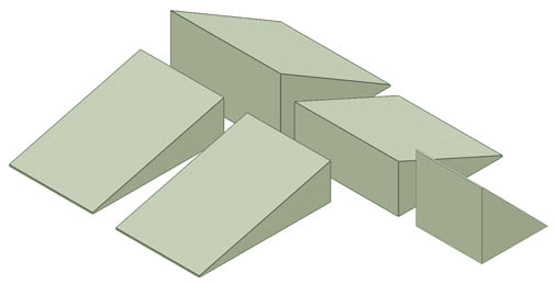 Non-Coated Wedge Sponge Bundle A