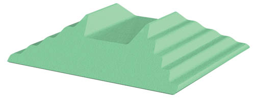Coated Bilateral Adult Oblique Finger Block Sponge (Stealth)