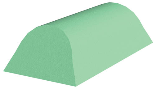 Coated Cervical Head Rest Sponge (Stealth)