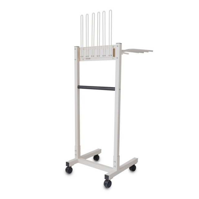 Mobile Apron and Glove Rack
