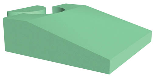 Coated Endo-Ultrasound Wedge Sponge (Non-Stealth)