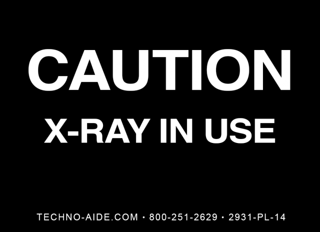 Caution X-Ray In Use Room Signs