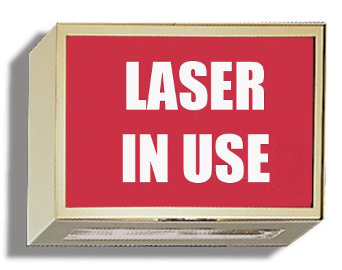 Illuminated Sign Laser In Use Techno Aide