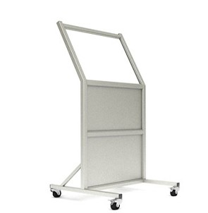 Mobile Radiation Lead Shield X-Ray Barrier Tilted