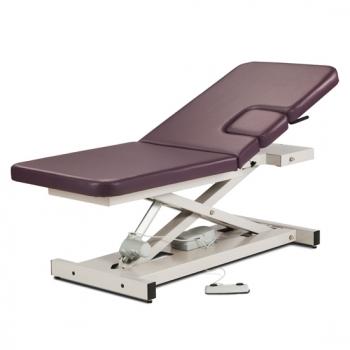 Open Base, Power Imaging Table w/ Adjustable Backrest & Drop Window