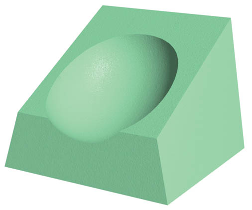 Coated CT Headrest Sponge (Non-Stealth)
