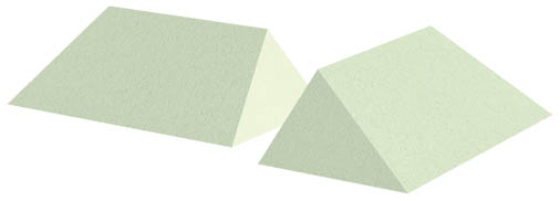 Non-Coated 34° Wedge Sponge Set (Stealth)