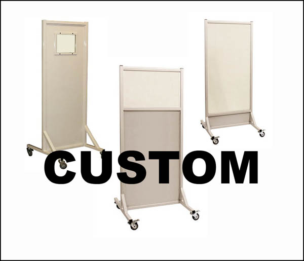 Custom Mobile Radiation Lead Shield X-Ray Barrier