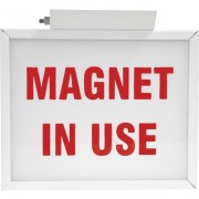 MAGNET IN USE Illuminated Two-Sided Sign