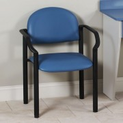 Black Frame Patient Room Chair with Arms