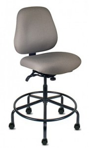 Bariatric Stool with Locking Casters