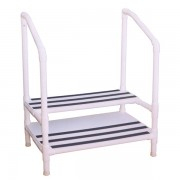 Double Step Stool with Handrails