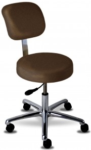 Classic Stool w/ Locking Casters & Backrest