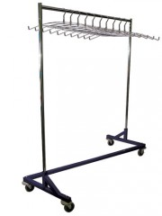 Mobile Apron Rack with Hangers