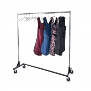Z Base Mobile Apron Rack with Hangers