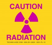 Premium Caution Radiation Sign