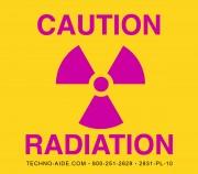 Premium Caution Radiation Sign
