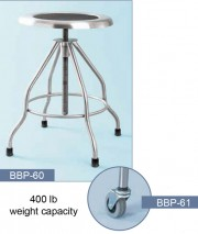Exam Stool w/400 lb Weight Capacity & Casters