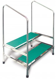 MRI Dual Platform Step Stool with Handrail