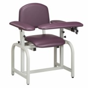 Extra Wide Phlebotomy Padded Chair with Padded Flip Arms. Weight Capacity 400lbs