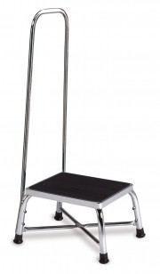 Single Platform Bariatric Step Stool with Handrail