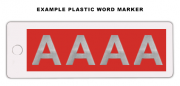 Plastic Word Marker (6 Character Max)