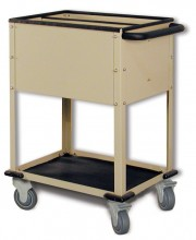 Top Loading Cr-Plate Cart, 2-Compartments