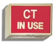 Illuminated Sign: CT In Use