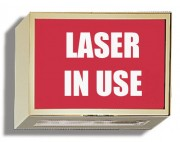 Illuminated Sign: Laser in Use
