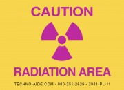 Premium Caution Radiation Area Sign