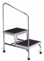 Dual Platform Bariatric Step Stool with Handrail