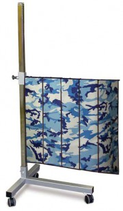 Deluxe Mobile T Base 5 Panel Shield