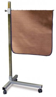 Deluxe Mobile T Base Shield  Solid Panel