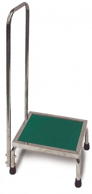 Non Ferromagnetic MRI Step Stool with Hand Rail