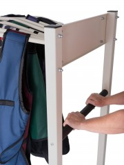 mobile apron rack