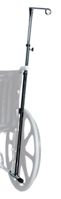 Wheelchair One-Hook IV Pole