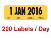 2016 X-Ray Film Date Labels