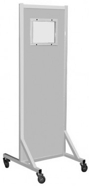 Standard Opaque Glass Leaded Mobile X-Ray Barrier