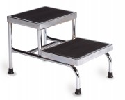 Bariatric Double Step Stool No Handrail