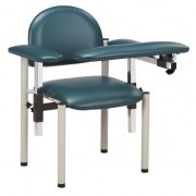 Extra Wide Phlebotomy Padded Chair with Padded Flip Arms. Weight Capacity 300lbs